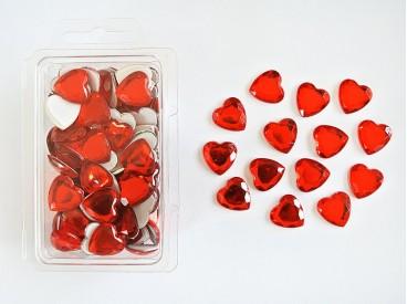 Serca akrylowe do przyklejenia 16mm (X021) KOD X021