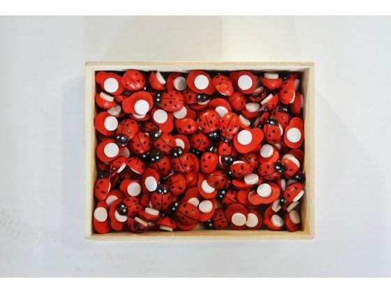 Biedronki drewniane 9*13mm w pudełku KOD X018