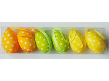 Jajka wielkanocne wzór nr 4-4*6cm 6szt. KOD X108