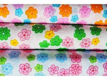 Tkanina w kwiaty 48 cm x 5 y KOD F109