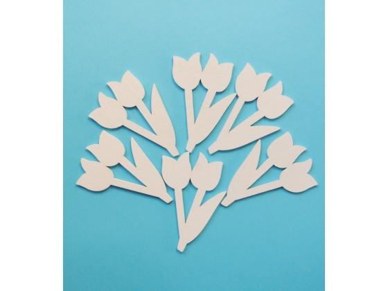 Tulipan drewniany 7 cm  x 4,5 cm 6 szt KOD X143