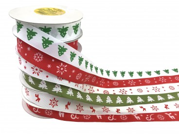 Wstążka bożonarodzeniowa 2,5cm x 10y KOD: FX128