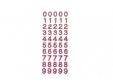 Cyfry akrylowe do przyklejania KOD X098