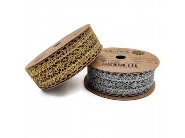 Wstążki koronkowe metalizowane